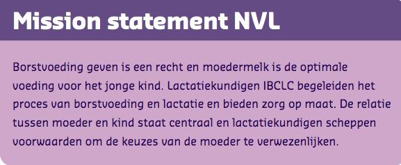 Beroepsprofiel Mission Statement NVL
