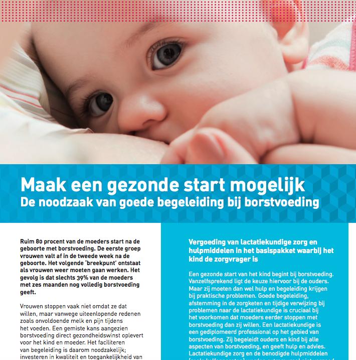 Maak Gezonde Start Mogelijk: De Noodzaak Van Goede Begeleiding Bij Borstvoeding.